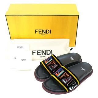 フェンディ(FENDI)の新品 FENDI マルチカラーファブリック サンダル size36 フェンディ(サンダル)