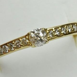K18 ゴールド 合計 0.30ct ダイヤモンドリング 15号 指輪  (リング(指輪))