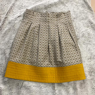 ドゥロワー(Drawer)のマスタードイエロー系 スカート(ひざ丈スカート)