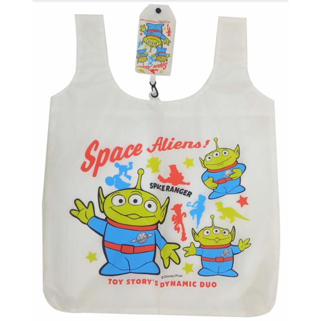 トイ・ストーリー(トイストーリー)の新品!トイ・ストーリーのリトルグリーンメンのエコバッグ!持ち運びに! レディースのバッグ(エコバッグ)の商品写真