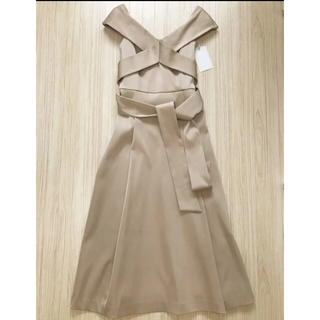 フレイアイディー(FRAY I.D)のCELFORD オフショルダー ドレス ロング ワンピ フレア リボン 2way(ロングドレス)
