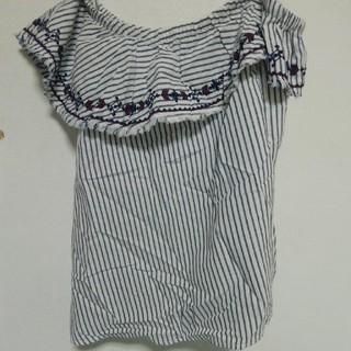 エイチアンドエム(H&M)のオフショルダー(シャツ/ブラウス(半袖/袖なし))