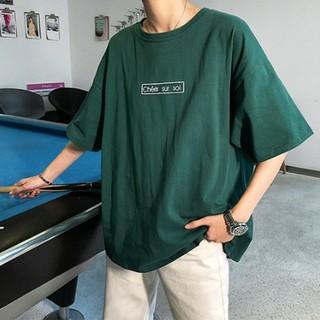 バックフォトビッグシルエットシャツ グリーン XLサイズ(Tシャツ/カットソー(半袖/袖なし))