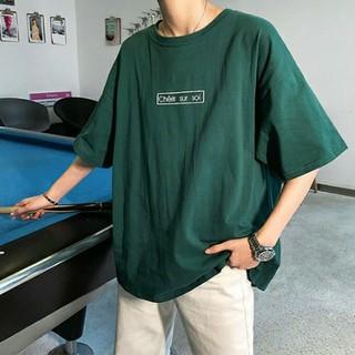 バックフォトビッグシルエットシャツ グリーン XXLサイズ(Tシャツ/カットソー(半袖/袖なし))