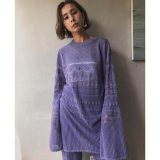 Ameri VINTAGE - ★Ameri VINTAGE大人気LACY FUSUMA KNIT TOPS★