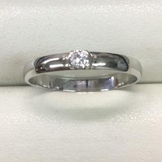 ★大きめの20号★プラチナPt900・ダイヤモンドリング★0.10ct(リング(指輪))