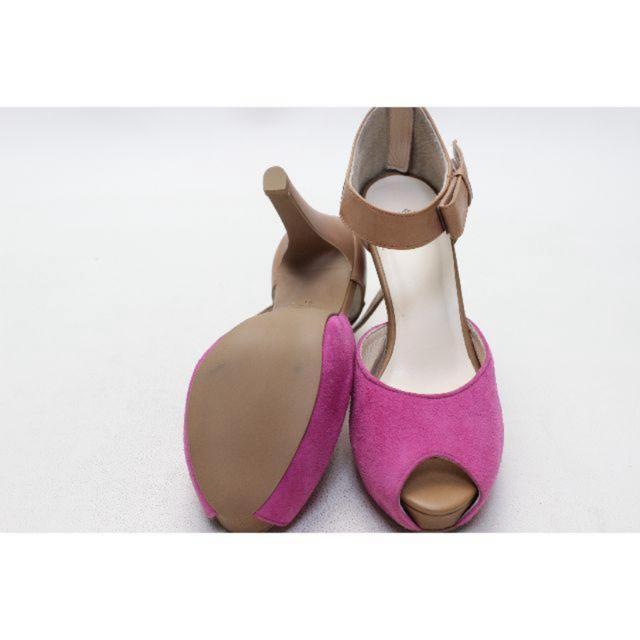 新品♪CAROL 本革バイカラーパンプス(21.5cm) レディースの靴/シューズ(ハイヒール/パンプス)の商品写真