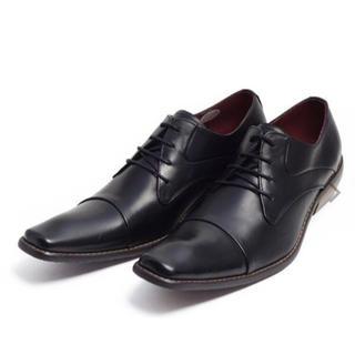 ビジネスシューズ 本革 レザー メンズ 紳士靴 ブラック41(ローファー/革靴)
