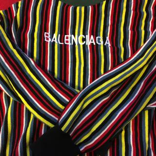バレンシアガ(Balenciaga)のBALENCIAGA ストライプ ニット メンズ(ニット/セーター)
