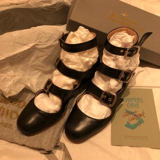 ヴィヴィアンウエストウッド(Vivienne Westwood)の再値下げ 美品 ヴィヴィアンウエストウッド ロマンスリーストラップ (ローファー/革靴)
