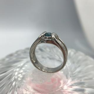 Pt900 ブルー ダイヤモンド デザイン リング 19-2299(リング(指輪))