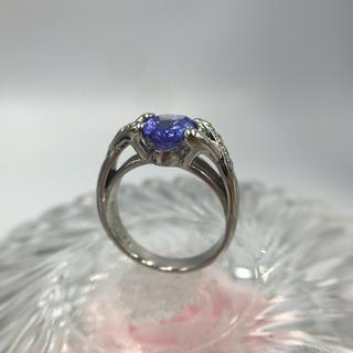 Pt900 トルマリン ダイヤモンド デザイン リング 18-7226(リング(指輪))
