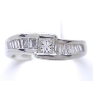 最終価格 お値引き不可 PT900 合計0.55ct 天然ダイヤリング(リング(指輪))
