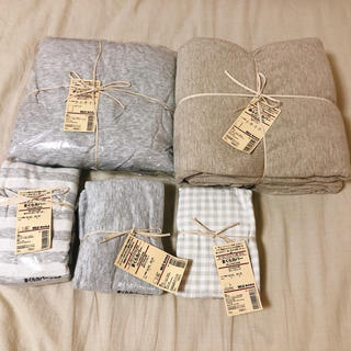 MUJI (無印良品) - 無印良品 オーガニックコットン 布団カバー シーツ 枕カバー セット 新品