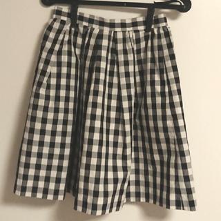 ティアラ(tiara)のティアラ ギンガムチェック スカート(ひざ丈スカート)