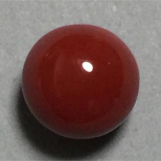 f99 天然 煌 濃赤本珊瑚 片穴 10.3mm 7.10ct 1.42g(リング(指輪))