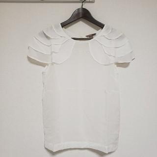 エイチアンドエム(H&M)のH&M ブラウス トップス  オフホワイト 40(シャツ/ブラウス(半袖/袖なし))
