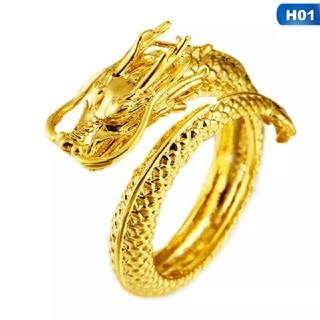 ドラゴンリング 竜モチーフ ゴールドリング タイプA(リング(指輪))
