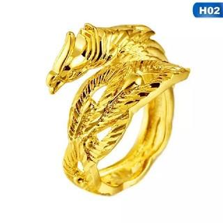 ドラゴンリング 竜モチーフ ゴールドリング タイプB(リング(指輪))