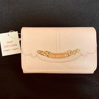 リズリサ(LIZ LISA)のリズリサ LIZ LISA 牛革二つ折り財布 (ピンク)(開封済み新品)(財布)