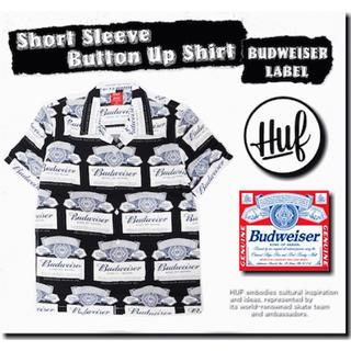 ハフ(HUF)の【M】HUF Budweiser オープンカラーシャツ(シャツ)