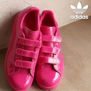 アディダス(adidas)のadidas スタンスミス ピンク 22センチ 1回履いたのみ(スニーカー)