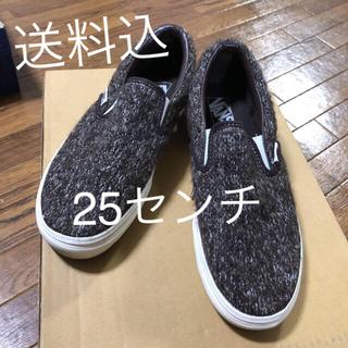 VANS - VANS スリッポン スニーカー 茶色 モコモコ