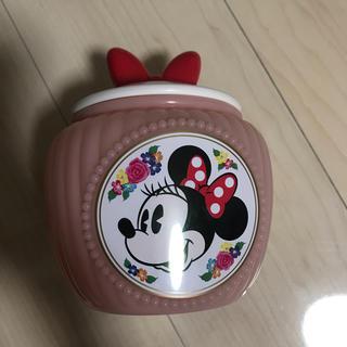 ミニーマウス(ミニーマウス)のディズニー ミニー 小物入れ コットンジャー リボン ピンク(キャラクターグッズ)