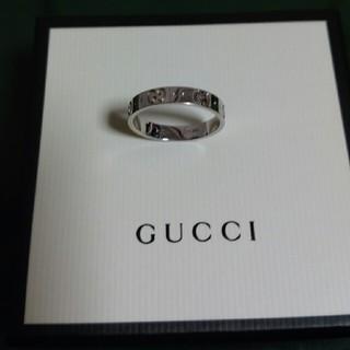 グッチ(Gucci)のゴールドスタイル《ラクマ店》様GUCCIアイコンリング WG #20  18号(リング(指輪))