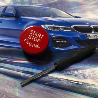 ビーエムダブリュー(BMW)の BMW M  F10 F20 F30対応 プッシュスタートボタン 赤 おまけ付(車種別パーツ)