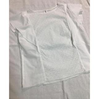 スタディオクリップ(STUDIO CLIP)のスタディオクリップ  刺繍 フリルスリーブ ブラウス(シャツ/ブラウス(半袖/袖なし))