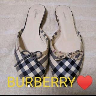 バーバリー(BURBERRY)のBURBERRY♥サンダルミュール36/23.5(サンダル)