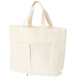 MUJI (無印良品) - インド綿横型マイトートバッグ