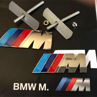 BMW - BMW Mロゴ 3Dメタル フロントグリルエンブレム&ステッカー セット 新品