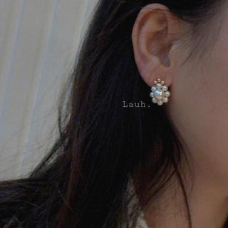 リリーブラウン(Lily Brown)のj216.mini flower pearl pierce(ピアス)