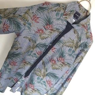 アップルバム(APPLEBUM)の日本製★APPLEBUM 総柄 ボタニカル デザインシャツ(シャツ)