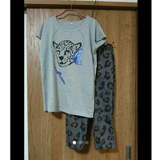 ベルメゾン(ベルメゾン)のヒョウ柄のパジャマ/アニマル ルームウエア/ゆったりM(パジャマ)