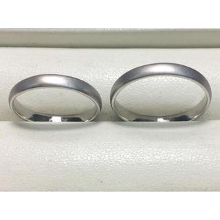 ★マット仕上げ(ツヤ消し)★プラチナPt900・マリッジリング★幅3.0mm(リング(指輪))