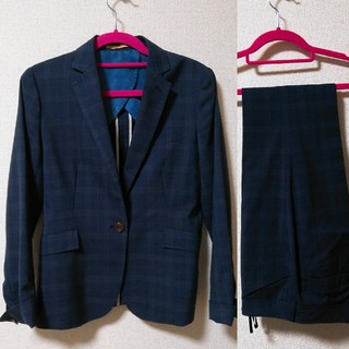 オリヒカ(ORIHICA)のオリヒカ ネイビーチェック柄 パンツスーツ(スーツ)