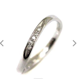 ヨンドシー(4℃)の新品 未使用 4°C k10 WG ダイヤ リング 7号 ✨ 結婚指輪 (リング(指輪))