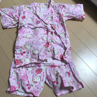ハローキティ(ハローキティ)のはろうきてぃ ハローキティ 甚平 女の子 サイズ100 (甚平/浴衣)