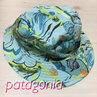 patagonia - patagonia kids 帽子 ハット グリーン リバーシブル