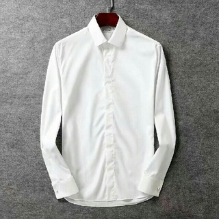 ジバンシィ(GIVENCHY)の白いメンズ長袖 SHIRT  GIVENCHY シャツ *サイズL(シャツ)