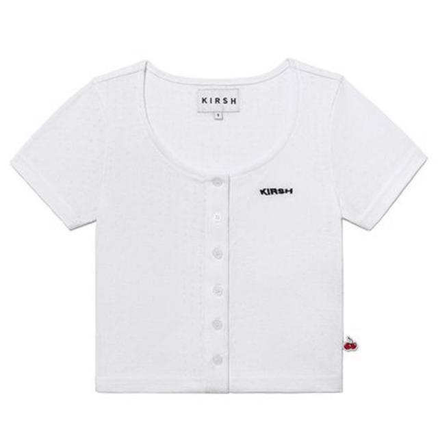 STYLENANDA(スタイルナンダ)のkirsh ショートカーディガン ホワイト レディースのトップス(Tシャツ(半袖/袖なし))の商品写真
