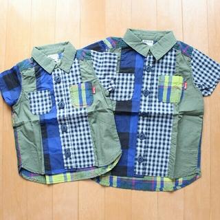 ブリーズ(BREEZE)の☆新品未使用☆BREEZE 半袖チェックシャツ お揃いセット(ブラウス)