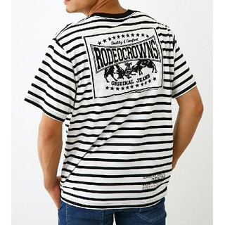 RODEO CROWNS WIDE BOWL - RCWB メンズカラーパッチTシャツ ボーダー