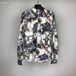 ジバンシィ(GIVENCHY)のGIVENCHY美品のプリントファッションメンズシャツ(シャツ)