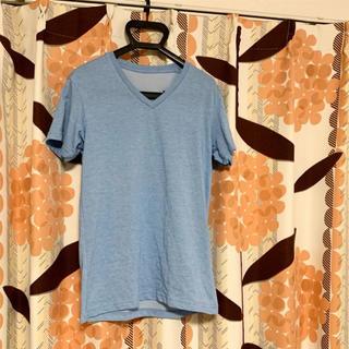 ユニクロ(UNIQLO)のTシャツ 半袖 ドライ ブルー 水色 Vネック(Tシャツ/カットソー(半袖/袖なし))