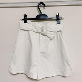 リランドチュール(Rirandture)のタグ付き新品♡リランドチュール♡キュロット♡ホワイト(キュロット)
