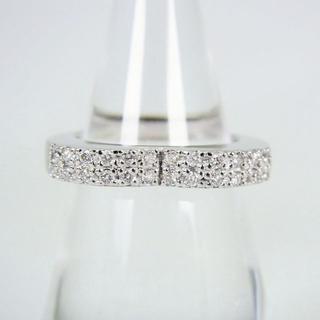 K18WG ダイヤモンド リング 10号 [f37-40](リング(指輪))